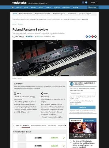 MusicRadar.com Roland Fantom 8