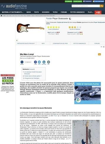 Audiofanzine.com Fender Player Stratocaster