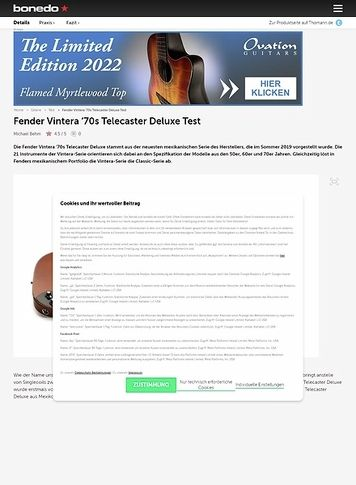 Bonedo.de Fender Vintera '70s Telecaster Deluxe