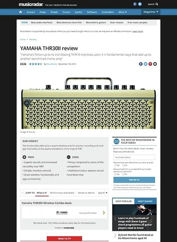 MusicRadar.com YAMAHA THR30II