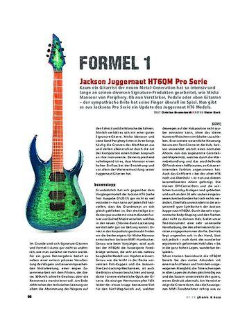 Gitarre & Bass Jackson Juggernaut HT6QM