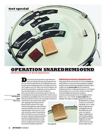 Sticks Operation Snaredrumsound