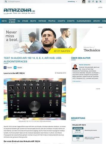 Amazona.de M-Audio AIR 192 14, 8, 6 und 4