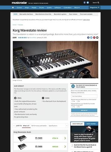 MusicRadar.com Korg Wavestate