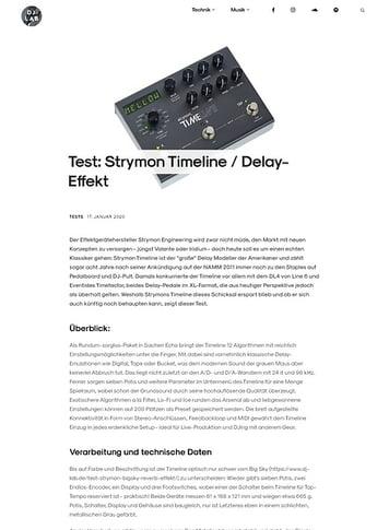 DJLAB Strymon Timeline / Delay-Effekt