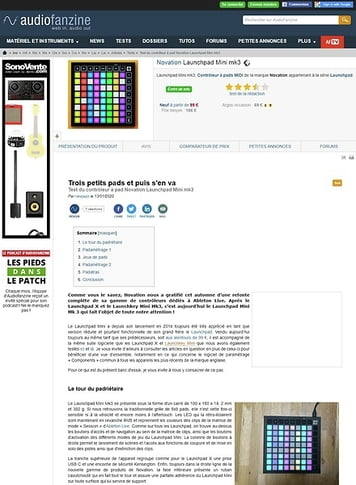 Audiofanzine.com Novation Launchpad Mini mk3