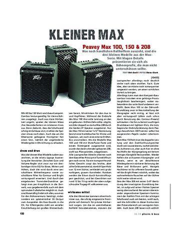 Gitarre & Bass Peavey Max 100, 150 & 208