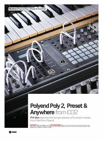 Future Music Polyend Poly 2, Preset & Anywhere