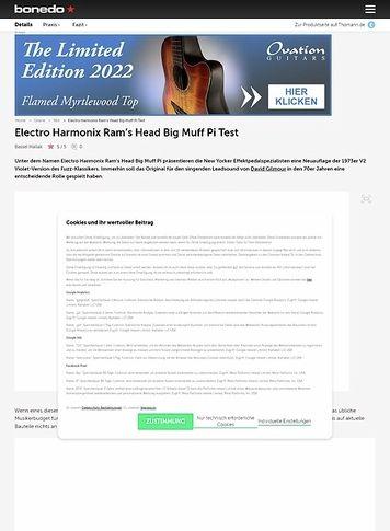 Bonedo.de Electro Harmonic Ram's Head Big Muff Pi