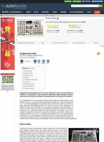 Audiofanzine.com Waldorf Kyra