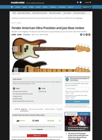 MusicRadar.com Fender American Ultra Precision and Jazz Bass