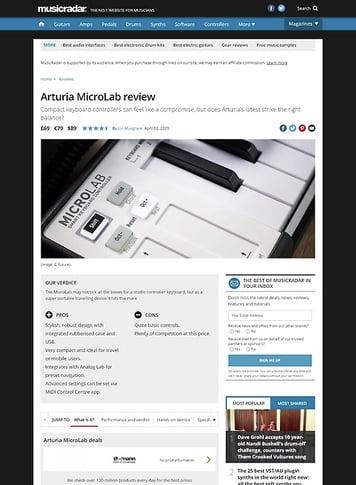 MusicRadar.com Arturia MicroLab