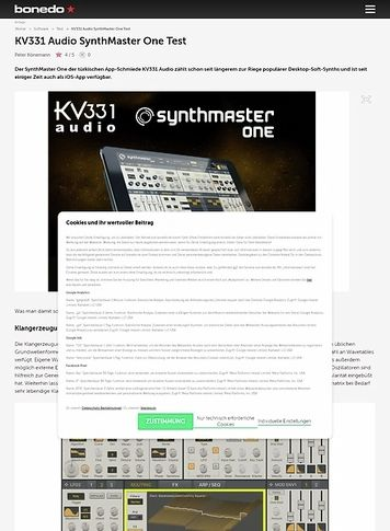 Bonedo.de KV331 Audio SynthMaster One