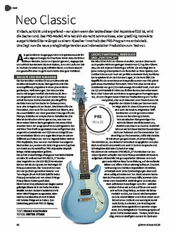 Gitarre & Bass PRS SE Mira