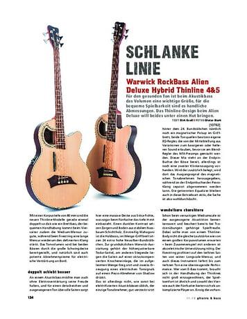 Gitarre & Bass Warwick RockBass Alien Deluxe Hybrid Thinline 4&5