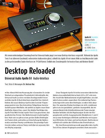 Sound & Recording Universal Audio Apollo X4