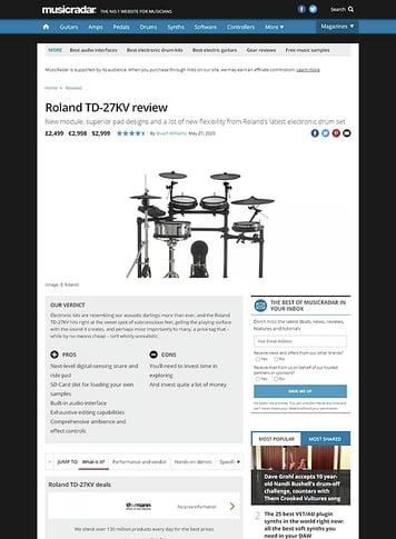 MusicRadar.com Roland TD-27KV