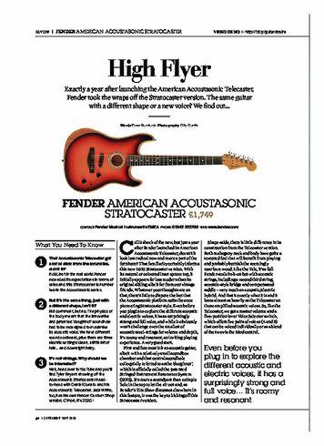 Guitarist FENDER AMERICAN ACOUSTASONIC STRATOCASTER