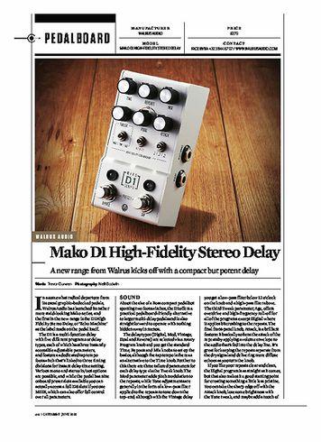 Guitarist WALRUS AUDIO Mako D1 High-Fidelity Stereo Delay