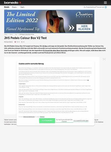 Bonedo.de JHS Pedals Colour Box V2
