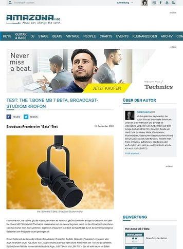 Amazona.de the t.bone MB 7 Beta