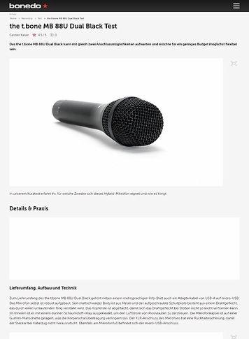 Bonedo.de the t.bone MB 88U Dual Black