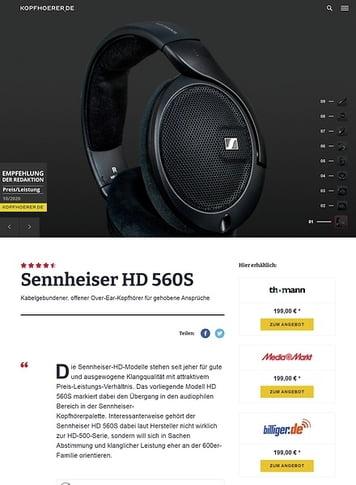 Kopfhoerer.de Sennheiser HD 560S