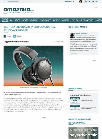 Amazona.de Beyerdynamic T1 3rd Generation