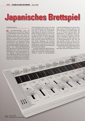 Professional Audio Japanisches Brettspiel: Zoom R16