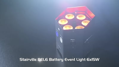Stairville BEL6 Battery Event Light 6x15W RGBAW UV