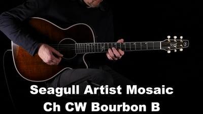 Seagull Artist Mosaic CH CW Bourbon Burst